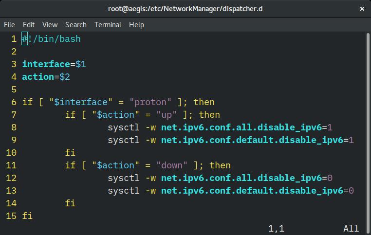 ProtonVPN Disable IPv6 Script